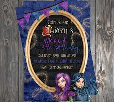 Disney Descendants Wicked World Invitation by EmiJaiDesigns