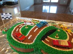 Race track cake for Dad's B-day