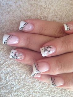 cute nails for kids ; nails for kids cute short ; cute unicorn nails for kids ; cute acrylic nails for kids French Manicure Nail Designs, French Tip Nail Art, Fingernail Designs, Acrylic Nail Designs, Nail Tip Designs, Cute Acrylic Nails, Cute Nails, Pretty Nails, Nagellack Design