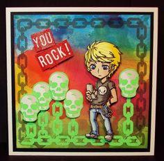 Visible Image stamps - Max Rocks - Pauline Butcher