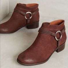 Anthropologie Ankle Boots Classic suede ankle boots with an edgy harness detail by Bernardo. Brand new with tags and comes with box. Cheaper through Ⓜ️ercari. Anthropologie Shoes Ankle Boots & Booties