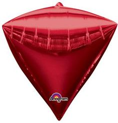 Red Diamondz UltraShape Metallic Balloon 17in - Party Depot