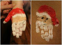 Santa Handprint Fun for the Kids Preschool Christmas, Christmas Activities, Christmas Crafts For Kids, Christmas Projects, Preschool Crafts, Kids Christmas, Holiday Crafts, Father Christmas, Hand Print Christmas Cards