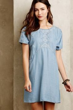 Holding Horses White Sands Chambray Tunic #anthrofave