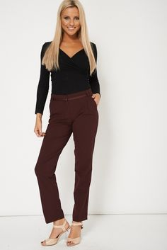 Smart Burgundy Trouser Perfect For Office Wear only for £8.99. Click link to visit our shop to view more items on sale.