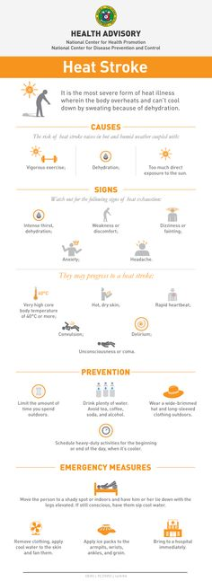 INFOGRAPHIC: DOH Advisory on Heat Stroke #heatstroke #doh #summer