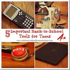 5 tools that will help teens - homeschooled or otherwise - as they go back to school.