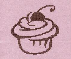 Chocolate Cupcake Cross Stitch birthday kitchen