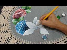 Roberto Ferreira - ( Inédito) Pintura Lírio em tecido emborrachado Part 2 - YouTube