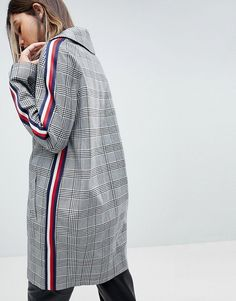Find the best selection of ASOS Slim Coat in Mono Check with Sports Trim. Shop today with free delivery and returns (Ts&Cs apply) with ASOS! Fashion Moda, Fashion 2018, Sport Fashion, Look Fashion, Spring Fashion, Fashion Online, Fashion Outfits, Womens Fashion, Fashion Design