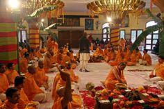 New members enter the Brahma-Madhava-Gaudiya Sampradayathrough Gopal Krishna Goswami (Album 115 photos)