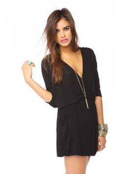 draped across dress - black, $58
