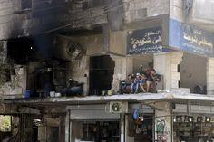 Dans le quartier d'Al-Shaar, à Alep, ex-capitale économique de la Syrie, début août.
