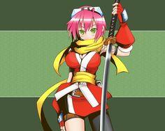 1280x1024 Wallpaper anime, girl, kimono, sword, background