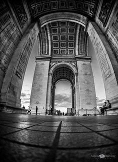 Partir du plancher de l'Arc de Triomphe by Alexis Ramirez Flores on 500px Triomphe, Building, Travel, Viajes, Floor, Buildings, Trips, Construction, Tourism