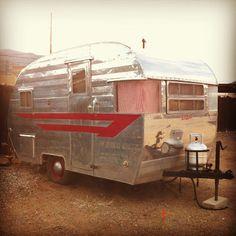 retro, vintage camper