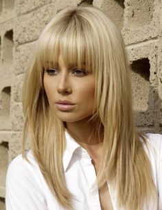 Long Blonde Fringe bringing the bangs back!                                                                                                                                                     More