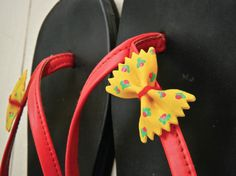 Dress up a pair of plain jane flip flops with Painted Pasta