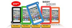 Big Grips® Buddy for iPod touch Ipod Covers, Best Educational Apps, Ipod Touch Cases, Ipad Accessories, Ipad Mini, Ipad Case, Technology, Big, Stage