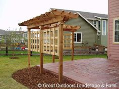 i would like to do this around our patio minus the trellis.  doesn't look too difficult