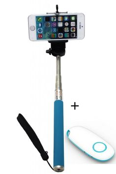 KINGCO Extendable Self-portrait Wireless Bluetooth Remote Camera Shooting Shutter Monopod Selfie Handheld Stick Pole with Mount Holder for IOS Android Smartphone Tablet(Blue Monopod with Shutter New Blue) Extendable handheld selfie stick for iphone 4 5 5s, samsung S3 S4 Ajustable phone adapter fits all phone width less than 8.5 cm Easy self-timer-- any angle, long distance, no hand to twist or shaking. Freely to enjoy photographing