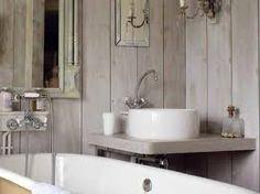 Bagno parete legno