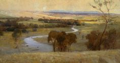 Arthur Streeton (1867-1943), 'Still glides the stream, and shall for ever glide' - 1890