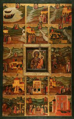Икона «Богоматерь Тихвинская со сказанием»