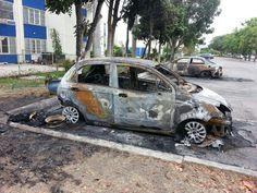 #16A Una persona herida y dos vehículos quemados fue el saldo de ataque de colectivos en urbanización Río Lama