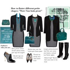 """""""How to flatter different petite shapes"""" by professionality on Polyvore"""