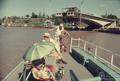 Brisbane River Cruise with Captain Cook bridge being built in the background.