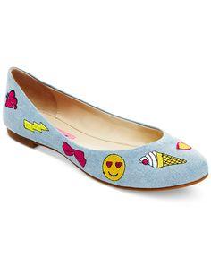 Betsey Johnson Leoniee Emoji Flats - All Women's Shoes - Shoes - Macy's