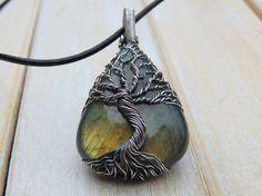 Labradorite Tree Of Life Pendant Wire Wrapped by EmmaWyattArt