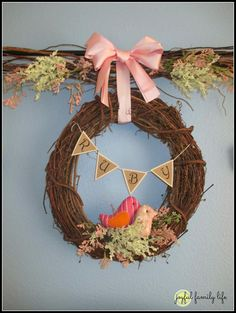 Girl's nursery idea: woodland bird theme from the Joyful Family Life blog