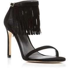 Stuart Weitzman Open Toe Sandals - Lovefringe High Heel ($228) ❤ liked on Polyvore