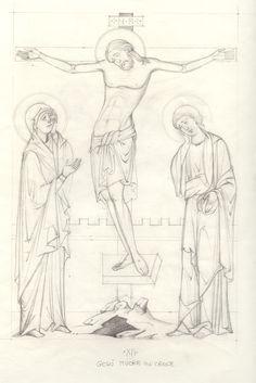 Via Crucis - loscriptorium san sisto - Picasa Web Albums Byzantine Icons, Byzantine Art, Religious Icons, Religious Art, Paint Icon, Cartoon Sketches, Catholic Art, Orthodox Icons, Painting Process