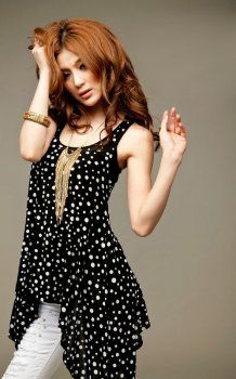 Fashion Collection for Korean Blouse on asiankoreanfashion.com Korean Blouse, Korean Fashion Online, Polka Dot Top, Fashion Outfits, Black And White, Pretty, How To Wear, Clothes, Beautiful