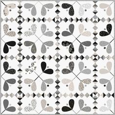 The quilt is Mistletoe by Brigitte Heitland for Zen Chic - made using her upcoming White Christmas Metallic collection. Cute Quilts, Baby Quilts, Neutral Quilt, Black And White Quilts, Two Color Quilts, Christmas Quilt Patterns, Medallion Quilt, Winter Quilts, Quilting Tutorials