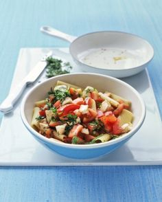 """See the """"Rigatoni with Tomatoes and Mozzarella"""" in our Quick Meatless Recipes gallery"""