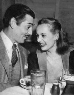 Carole Lombard and husband, Clark Gable.  My favorites of all time........what a love story.