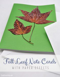 Fall Leaves Paper Effects Note Cards by Club Chica Circle.