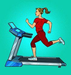 Treadmill sports equipment for training fitness vector Free Vector Images, Vector Free, Brunette Woman, Sports Equipment, Treadmill, Royalty, Training, Fitness, Women