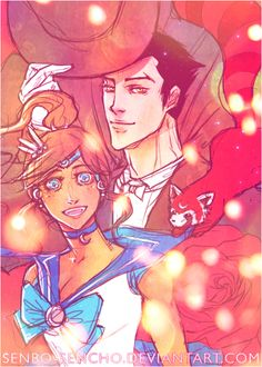 Sailor Korra and Tuxedo Mako! Really weird mash-up, but I like it!