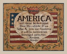 America 8x10 print by Teresa Kogut. #america #usa #lincoln #quote Americana Crafts, Let Freedom Ring, Early American, American Pie, American Spirit, American Flag, God Bless America, Fourth Of July, Wood Print