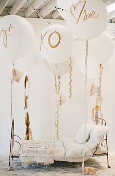 "XO Balloon - 36"" great for modern wedding decor"