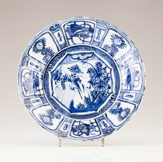 A Blue and white plate, Chinese export porcelain, Ming dynasty, Wanli Period (1573-1619).