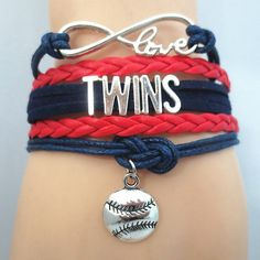 Infinity Love Minnesota Twins Baseball - Show off your teams colors! Cutest Love Minnesota Twins Bracelet on the Planet! Don't miss our Special Sales Event. Many teams available. www.DilyDalee.co