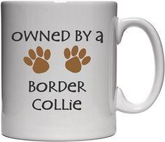 Köpekli - Owned By a Border Collie Kendin Tasarla - Beyaz Kupa