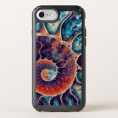 Sunset Daze Nautilus Art Speck iPhone Case - modern style idea design custom idea