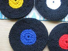 Ravelry: Vinyl Record Coasters (knit version) pattern by Ellen Kapusniak